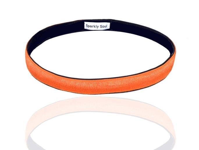 Neon Orange Satin Wide 7-17